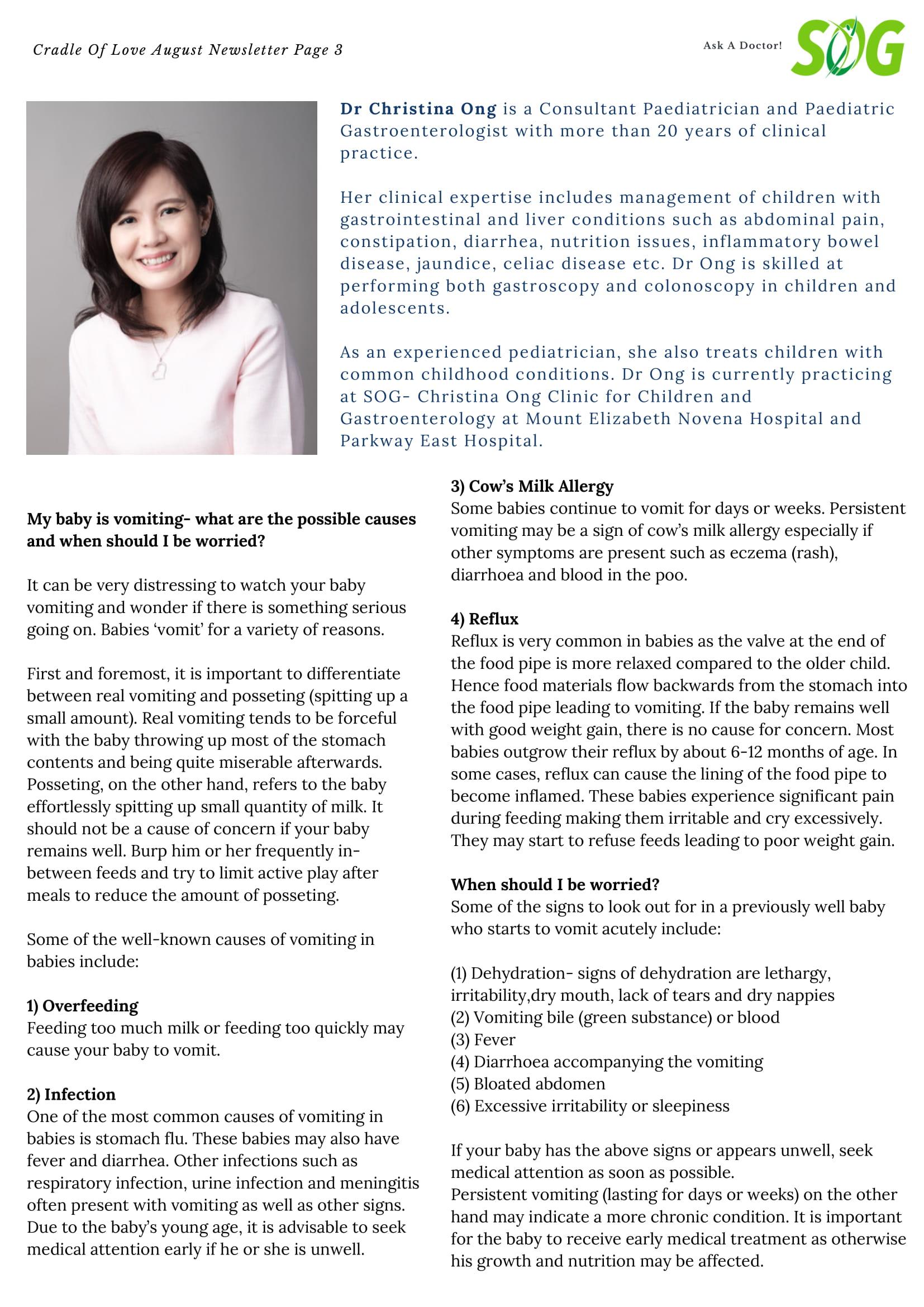 Dr Christina Ong Paediatrician & Gastroenterologist